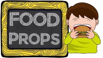 Food Props for VIPKID ESL Online Teaching Props