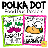 Food Pun Posters in Polka Dots