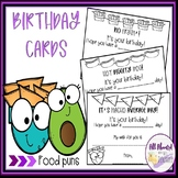 Food Puns Birthday Cards