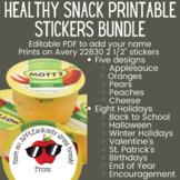 Food Puns Healthy Classroom Treat Stickers Bundle