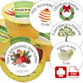 Food Puns Healthy Snack Classroom Treats for School Sticke