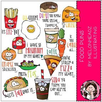 Food Puns clip art  -  COMBO PACK - by Melonheadz
