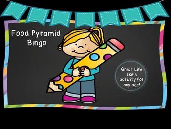 Food Pyramid Bingo