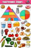 Food Pyramid Clipart Set - Kid's Health Education