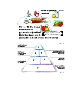 Food Pyramid Jumble WS