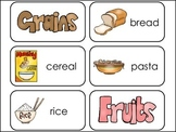 Food Pyramid Picture Word Flash Cards.