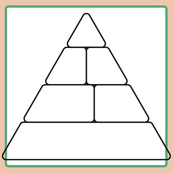 food pyramid template for nutritional work or food studies clip art