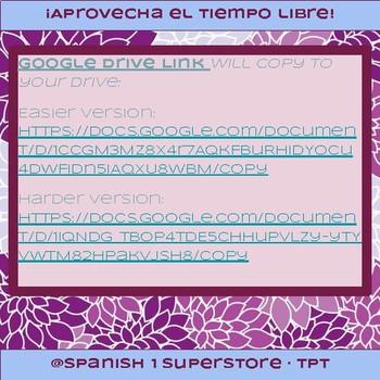 Food Question Recordings (Spanish 1-Avancemos 1 3.1)