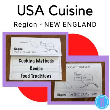 Food Regions Flap Book - NEW ENGLAND