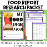 Food Research Packet Pamphlet Project