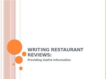 Food Reviews: Providing Useful Information