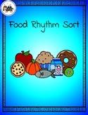 Food Rhythm Sort - Quarter/Eighth (Whole Group/Center) Inc