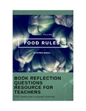 Food Rules: An Eater's Manual by Michael Pollan Book Reflection Questions