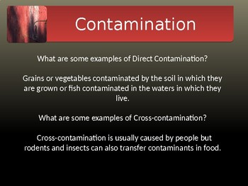Food Safety: Contamination Powerpoint