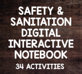 Food Safety & Sanitation DIGITAL Interactive Notebook- 34 Activities