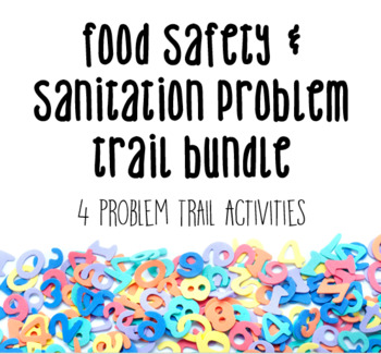 Food Safety & Sanitation Problem Trail 4 Pack for Culinary FCS
