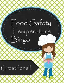 Food Safety Temperature Bingo