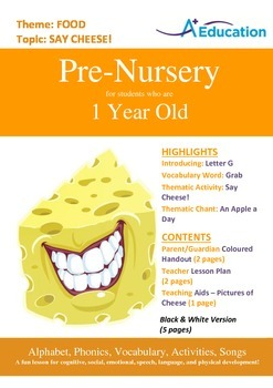 Food - Say cheese! : Letter G : Grab - Pre-Nursery (1 year old)