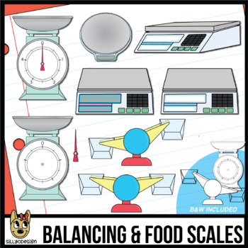 Food Scales and Balancing Scale Clip Art