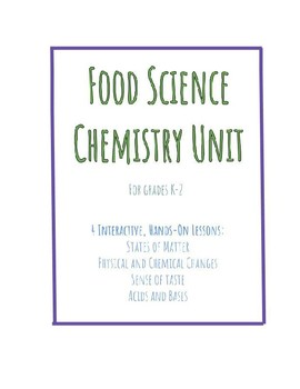 Food Science Chemistry Unit