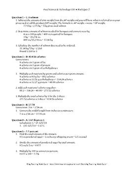 Food Science & Technology CDE: Math Quiz 5