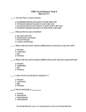 Food Science & Technology CDE: CIMC Objective Test 2