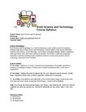Food Science Technology Syllabus