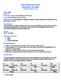 Food Science and Nutrition Syllabus