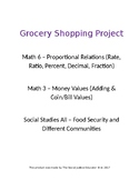 Food Security Grocery Math & Social Studies Project