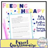 Food Sensitivity, Food Aversion, Anxiety, Social, Academic, Parent Questionnaire