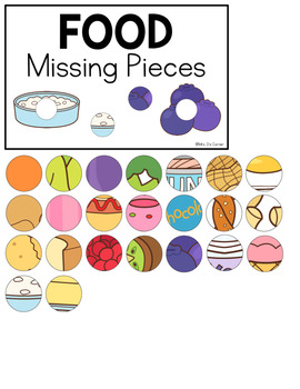 Food (Set 2) Missing Pieces Task Box | Task Boxes for Special Education