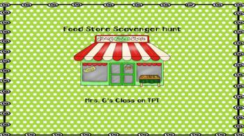 Food Shopping Scavenger Hunt