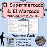 Food Shopping Spanish Vocabulary Worksheets (Así Se Dice Lev 1, Chapter 9)