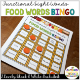 Food Sight Word BINGO for Life Skills Reading Practice in