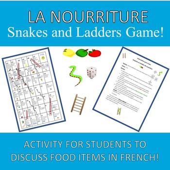 Food Snakes and Ladders La Nourriture