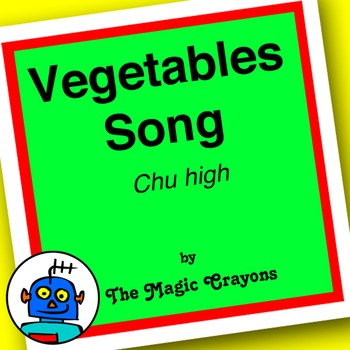 English Vegetables Song 1 for ESL, EFL, Kindergarten. Tomatoes, cucumber, corn