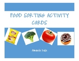 Food Sorting Activity Cards