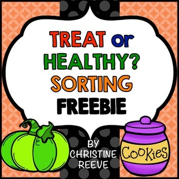 Food Sorting Free Worksheets (Special Ed.; Life Skills; Autism; Halloween)