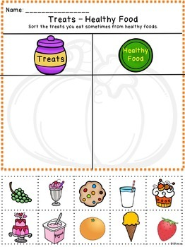 food sorting free worksheets special ed life skills autism halloween. Black Bedroom Furniture Sets. Home Design Ideas