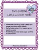 Food Sorting Labels and Posters **LIFE Skills FREEBIE**