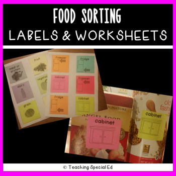 Food Sorting Labels and Posters with graphics