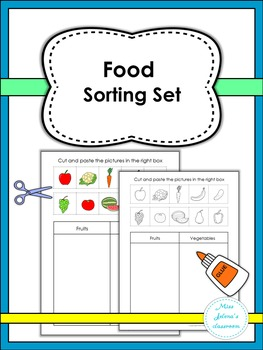 Food Sorting Set