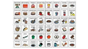 Food Sorting Task Cards