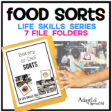 Food Sorts: Life Skills File Folder Special Education