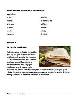 Food/Comida - The Spanish and the Mexican Tortilla -