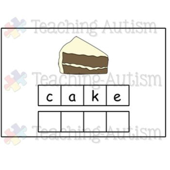 Food Spelling Task Cards - Autism