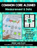 Food Stand Math Bundle: Common Core Aligned Measurement and Data Math Centers
