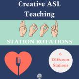 ASL Food Station Rotation Activity - American Sign Language