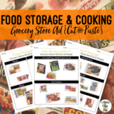 Food Storage & Cooking - Grocery Store Ad {Cut & Paste} Worksheets
