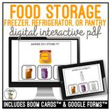 Food Storage Freezer Refrigerator or Pantry Digital Interactive Activity